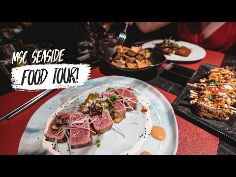 Cruise Ship FOOD TOUR!! – What the Food Is like on Board the MSC SEASIDE! (MSC Cruise Day 3)