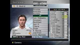 Plantilla Real Madrid 2004/2005 Winning Eleven