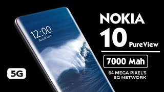 NOKIA 10 PureView 5G (2020) Introduction!!!   7000 Mah Battery   INDISPLAY Camera