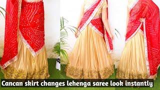 HOW TO WEAR LEHENGA STYLE SAREE |NO CUTTING NO SEWING||saree wearing step by step||PRIYANKA YADAV