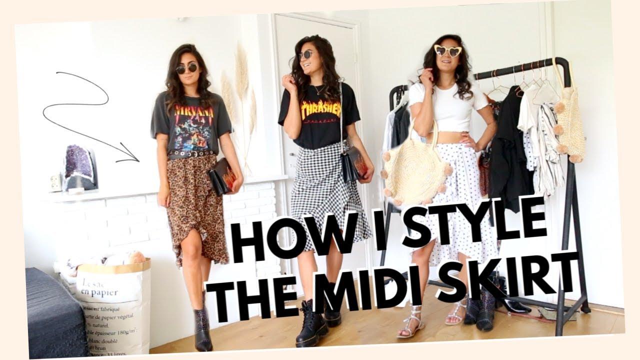 15 Manieren om de midi-skirt te dragen