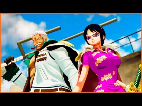 Smoker and Tashigi Help Luffy | One Piece World Seeker Game | Protect Emerald Town