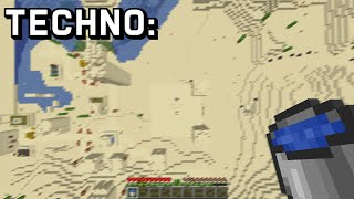 what Technoblade fans see when Technoblade plays Minecraft