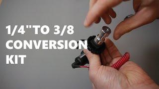 "A  1/4"" to 3/8"" Tripod Thread Adapter Kit"