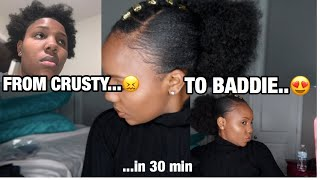 QUICK NATURAL 4C/4D PROTECTIVE HAIRSTYLE!!