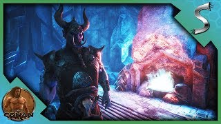 THE FROST GIANT DUNGEON! UNLOCKING BLACK ICE WEAPONS! - Conan Exiles [Full Release Gameplay E28]
