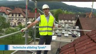Test van waterdichte, dampopen onderdakfolies | Tyvek® Onderdakfolie