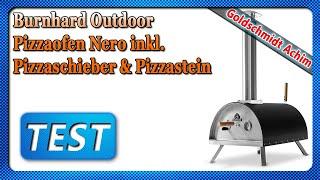 Burnhard Outdoor Pizzaofen Nero inkl. Pizzaschieber & Pizzastein