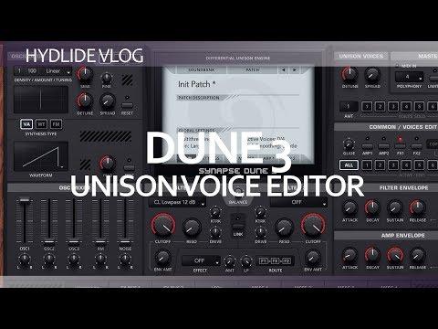 Ableton Live 10 - dune 3 unison voice editor