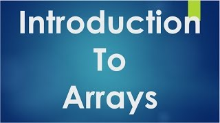 Download Youtube: C Programming - 43 - Introduction to Arrays