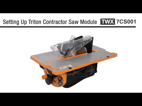 Triton Contractor Saw Module - Instructions