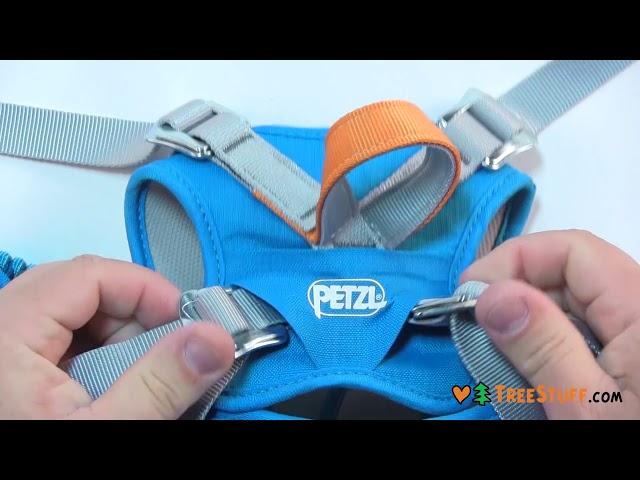 Видео Обвязка детская Petzl Body blue