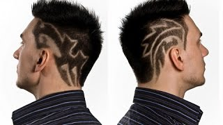 Hair Tattoo Designs -  25 Cool Mens Hairstyle