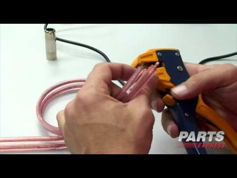 """How to make a 1/4"""" Speaker Cable"""