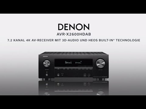 Denon AVR-X2600H (7.2 canaux, FM)