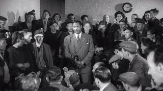 Paul Robeson sings to Scottish miners (1949)