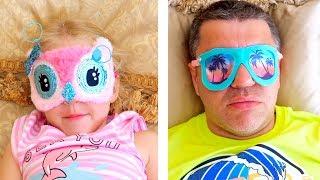 Настя и папа в парке Свинки Пеппы и Маши / Nastya and papa fun play at the theme park of Peppa toy