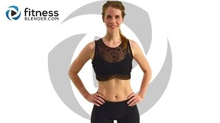 Fat Burning Cardio Bootcamp - Cardio Butt and Thigh Workout (with Low Impact Modifications) by FitnessBlender