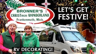 How We Decorated Our RV For Christmas | Get In The Spirit Of The Holiday At Bronners!
