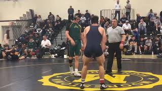 Howell's Shane Reitsma works towards a major decision in the Jack Welch Duals final.