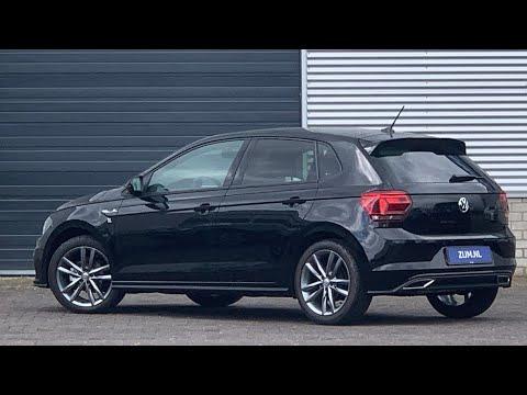Volkswagen NEW Polo R-line 2020 in 4K Deep Black 17 inch Pamplona Dark- walk around & detail inside