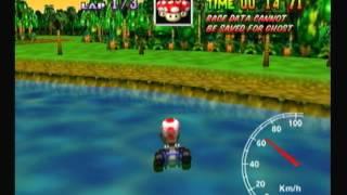 """Mario Kart 64 - DK's Jungle Parkway 1lap 43""""56"""