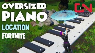 Fortnite - Oversized Piano Location - Visit an Oversized Piano and Play the sheet music - Challenge