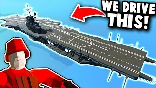 DRIVING AN AIRCRAFT CARRIER IN RAVENFIELD! | Ravenfield Best Mod Gameplay