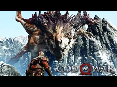 DRAGON VS KRATOS Full Boss Fight GOD OF WAR 2018 (PS4 PRO)