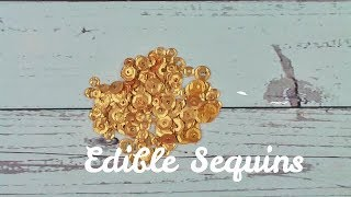Easy Edible Gold Sequins