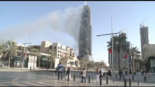 Address Hotel Still in Smoke after Fire on New Year