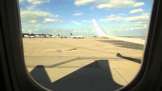 Caribbean Airlines 525 pushback at JFK Boeing 737-800