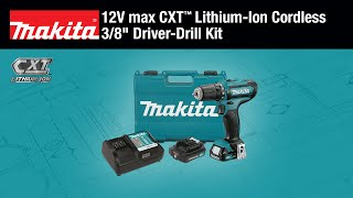 "MAKITA 12V max CXT™ 3/8"" Driver-Drill Kit - Thumbnail"