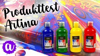 Produkttest: Artina Acrylfarben und Artina Akademie Leinwände