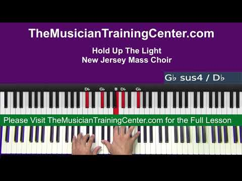 "Piano: How to Play ""Hold Up The Light"" by the New Jersey Mass Choir"