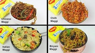 4 Most Unique Types Of Maggi   Biryani Maggi   Chilli Maggi   Chinese Maggi   Cheese Maggi