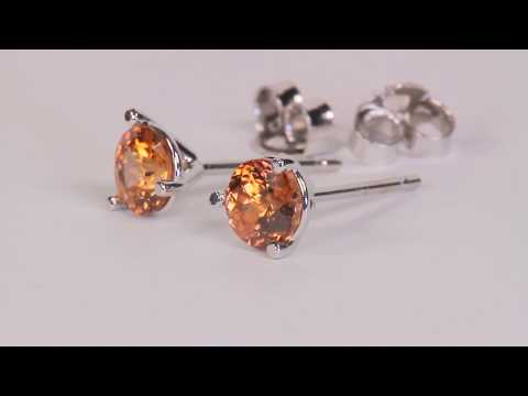 Imperial Zircon Earrings 1.22 Carat