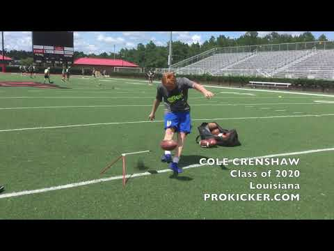 Cole Crenshaw, Ray Guy Prokicker.com Kicker Punter, Class of 2020, Louisiana