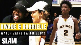 Dwyane Wade and Gabrielle Union Watch Zaire Catch First POSTER DUNK! ⚡️