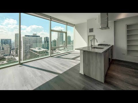 A -13 convertible 1-bedroom at Streeterville's Optima Signature apartments