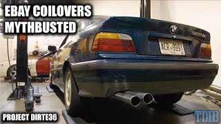 How BAD Are Ebay Coilovers and Blast Pipes? - Project DirtE36 Ep. 1