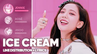 BLACKPINK, Selena Gomez - Ice Cream (Line Distribution + Lyrics Color Coded)