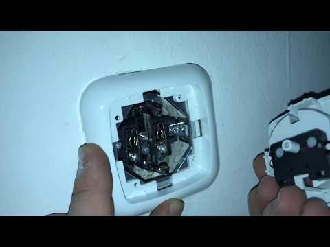 Steckdose montieren Unterputz Steckdose anbringen Strom installations ohne Rotband Anleitung