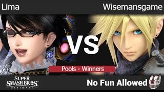 NFA 3 - Lima (Bayonetta) vs Wisemansgame (Cloud) Pools - Winners - SSBU
