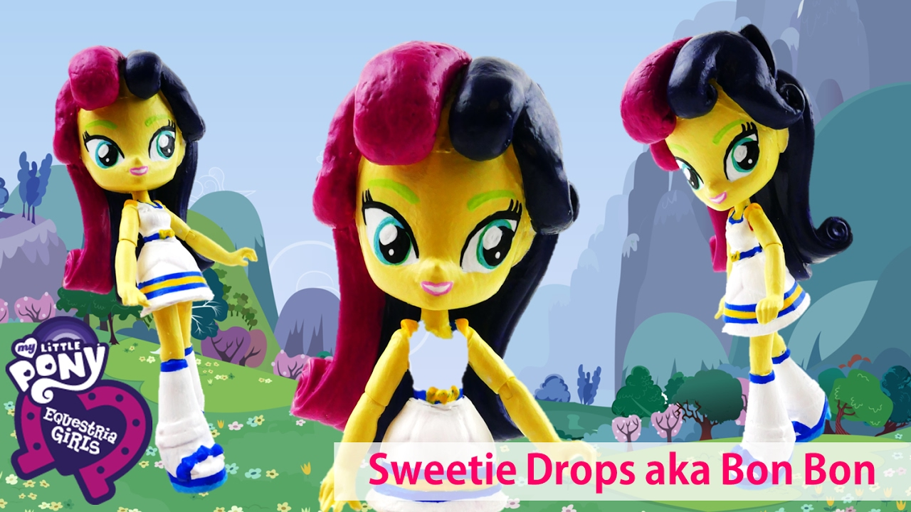 My Little Pony Bon Bon aka Sweetie Drops Equestria Girls Mini Dolls Custom | Evies Toy House