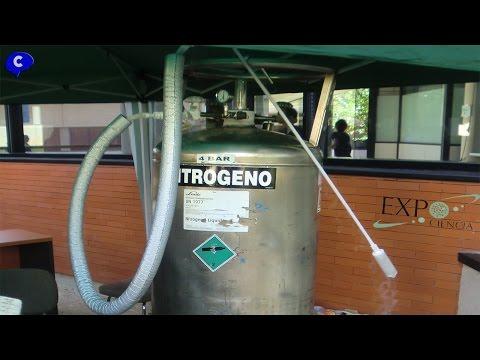 EXPOCIENCIA helados hechos con nitrogeno liquido