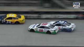 Monster Energy NASCAR Cup Series 2017. Bristol Motor Speedway. Danica Patrick & David Ragan Crash