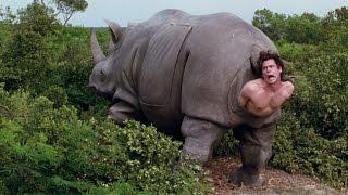 Рождённый носорогом — Эйс Вентура 2: Когда зовет природа (1995) сцена 7/10 HD