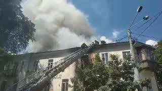 В центре Одессы горит жилой дом 1814 года постройки