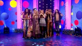 Sasha Allen and The cast of Hair on the 5 o'clock show